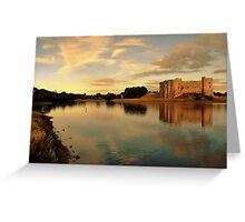 Carew Castle and Bridge Greeting Card