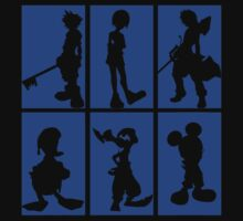 Kingdom Hearts - Character Roster (Blue) by SvenjaMarc