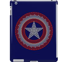 Celtic Captain America Black outline with red/white fill iPad Case/Skin