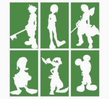 Kingdom Hearts - Character Roster (Green) by SvenjaMarc