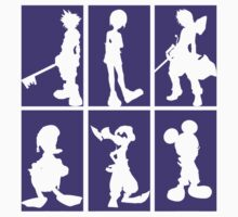 Kingdom Hearts - Character Roster (Purple) by SvenjaMarc