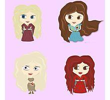 Women of Westeros Sticker set 01 Photographic Print