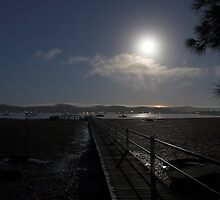 Yattalunga Moonset by Mike Salway