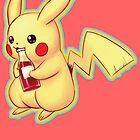 Pikachu with a ketchup bottle! by Asrielle