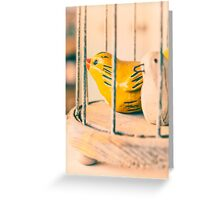 Two Birds One Cage Greeting Card