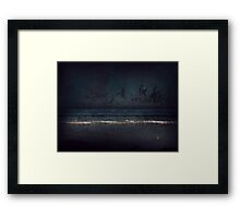 a beginning and a finale and all that lies between.... Framed Print