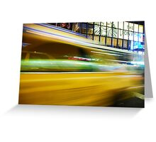 Yellow Cab Greeting Card