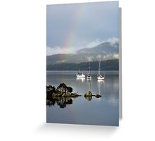 End of the Rainbow - Tamar River, Tasmania Greeting Card