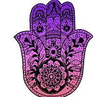 Purple Pink Ombre Hamsa by foreversarahx