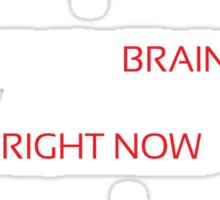 Which Brain white red Sticker