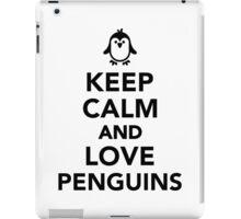 Keep calm and love penguins iPad Case/Skin