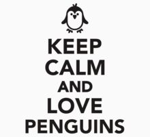Keep calm and love penguins Kids Clothes