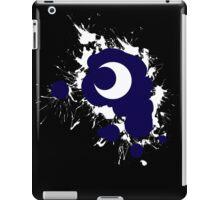 Lunar Splat (white paint, black background) iPad Case/Skin