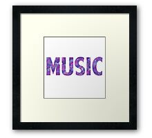 Watercolor Music Framed Print