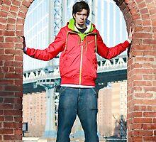 Boy with Manhatten Bridge in Background by timokohlenberg