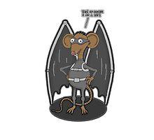 Yes, I am a bat ! Photographic Print
