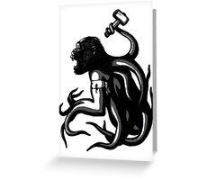 Shud, the last legionary of Simiacle Greeting Card