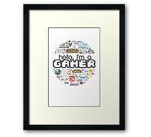 hello, I'm a gamer Framed Print