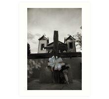 Kneeling at the Cross, Santuario de Chimayo Art Print