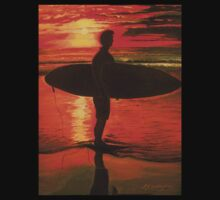 Sunrise Surfer - Sport by © Linda Callaghan