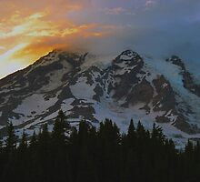 Mount Rainier at Sunset by Olga Zvereva
