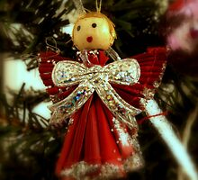 Christmas angel on a tree by Arve Bettum