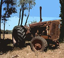 rusty tractor wide by peteroxcliffe