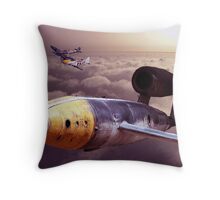 Chasing a V1 Throw Pillow