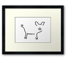pig piglet make a mess Framed Print