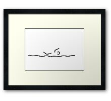 swimmers sport swim Framed Print