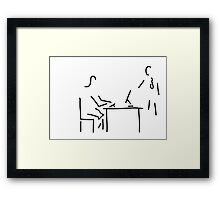 secretary typist office Framed Print