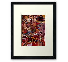 SATURDAY NIGHT IN THE KITCHEN Framed Print