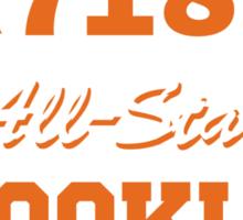 718 BROOKLYN ALLSTARS*ORANGE/WHITE Sticker