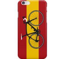 Bike Flag Spain (Big - Highlight) iPhone Case/Skin