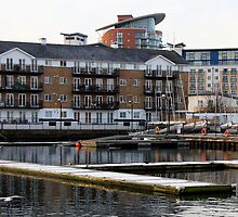 Jetties at Millwall Docks by Dave Law