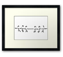 tug of war rope drawing team Framed Print
