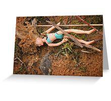 Dead Barbie Greeting Card