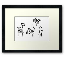 shop assistant fashion load Framed Print