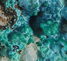 Botryoidal Chrysocolla with Malachite by Christopher Carlson
