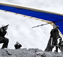 Blue Hang Glider by Mitchell Tillison