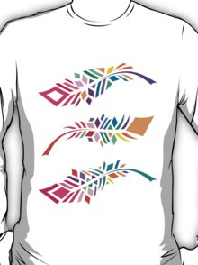 Stained Glass Feathers T-Shirt