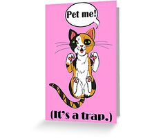 Trap Cat (Cailco Cat) Greeting Card