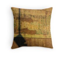 aged waterfront buiding. brooklyn, nyc Throw Pillow