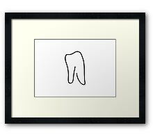 tooth doctor symbol Framed Print
