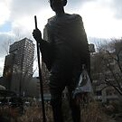 ghandi ji. streets of nyc by tim buckley | bodhiimages photography