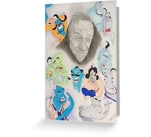 Robin Williams as Genie Greeting Card