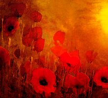 Poppy heaven'... by Valerie Anne Kelly