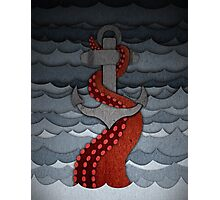 Kraken - with anchor Photographic Print