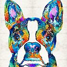 Colorful Boston Terrier Dog Pop Art - Sharon Cummings by Sharon Cummings