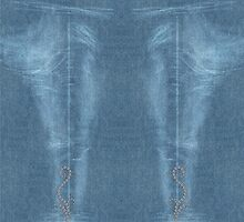 Diamond Flourish Faded Denim Jeans by andabelart